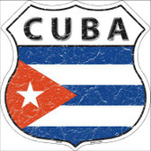 Cuba Country Flag Highway Shield Metal Sign
