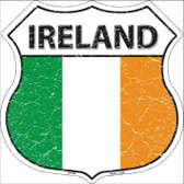 Ireland Country Flag Highway Shield Metal Sign
