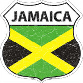 Jamaica Country Flag Highway Shield Metal Sign