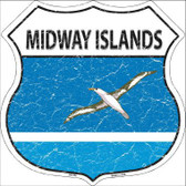 Midway Islands Country Flag Highway Shield Metal Sign