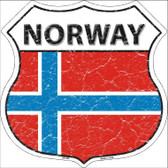 Norway Country Flag Highway Shield Metal Sign