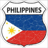 Philippines Country Flag Highway Shield Metal Sign