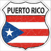 Puerto Rico Country Flag Highway Shield Metal Sign