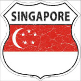 Singapore Country Flag Highway Shield Metal Sign