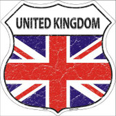 United Kingdom Country Flag Highway Shield Metal Sign