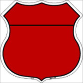 Red|Black Plain Highway Shield Metal Sign
