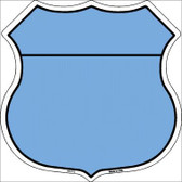 Light Blue|Black Plain Highway Shield Metal Sign