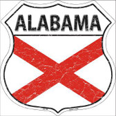 Alabama State Flag Highway Shield Metal Sign