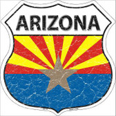 Arizona State Flag Highway Shield Metal Sign
