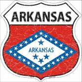 Arkansas State Flag Highway Shield Metal Sign