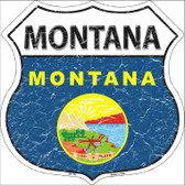 Montana State Flag Highway Shield Metal Sign