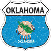 Oklahoma State Flag Highway Shield Metal Sign