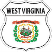West Virginia State Flag Highway Shield Metal Sign
