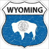 Wyoming State Flag Highway Shield Metal Sign