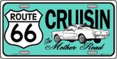 Route 66 Retro Cruisin Novelty Metal License Plate