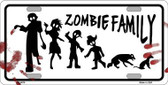 Zombie Family White Novelty Metal License Plate LP-6878