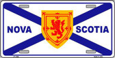 Nova Scotia Flag Novelty Metal License Plate