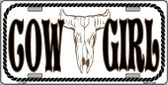 Cowgirl Novelty Metal License Plate