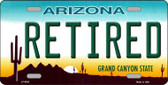 Arizona Retired Novelty Metal License Plate LP-6092