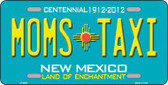 Moms Taxi New Mexico Novelty Metal License Plate LP-6687