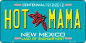 Hot Mama New Mexico Novelty Metal License Plate LP-6690