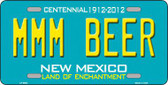 MMM Beer New Mexico Novelty Metal License Plate LP-6693