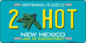 2 Hot Green New Mexico Novelty Metal License Plate LP-6697