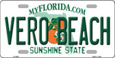 Vero Beach Florida Novelty Metal License Plate LP-6001