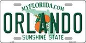 Orlando Florida Novelty Metal License Plate LP-6006