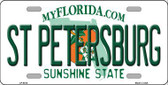 St Petersburg Florida Novelty Metal License Plate LP-6014