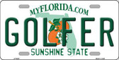 Golfer Florida Novelty Metal License Plate LP-6027