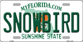 Snowbird Florida Novelty Metal License Plate LP-6034