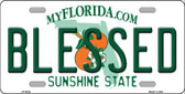 Blessed Florida Novelty Metal License Plate LP-6035