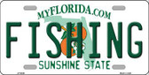 Fishing Florida Novelty Metal License Plate LP-6036