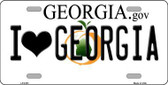 I Love Georgia Novelty Metal License Plate