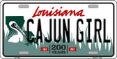 Cajun Girl Louisiana Novelty Metal License Plate