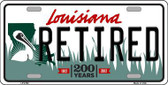 Retired Louisiana Novelty Metal License Plate