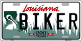 Biker Louisiana Novelty Metal License Plate