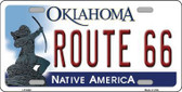 Route 66 Oklahoma Novelty Metal License Plate LP-6262