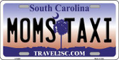 Moms Taxi South Carolina Novelty Metal License Plate LP-6282