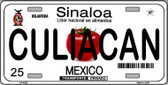 Culiacan Mexico Novelty Background Metal License Plate LP-4823