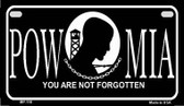 POW MIA Metal Novelty Motorcycle License Plate