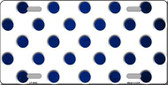 Blue White Dots Oil Rubbed Metal Novelty License Plate