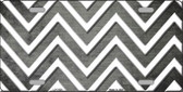Gray White Chevron Oil Rubbed Metal Novelty License Plate