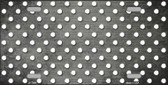 Gray White Small Dots Print Oil Rubbed Metal Novelty License Plate