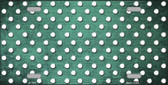 Mint White Small Dots Print Oil Rubbed Metal Novelty License Plate