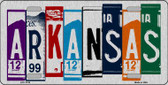 Arkansas License Plate Art Brushed Aluminum Metal Novelty License Plate