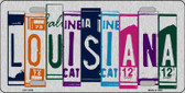 Louisiana License Plate Art Brushed Aluminum Metal Novelty License Plate
