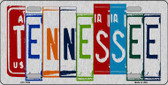Tennessee License Plate Art Brushed Aluminum Metal Novelty License Plate