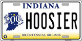 Hoosier Indiana Novelty Metal License Plate
